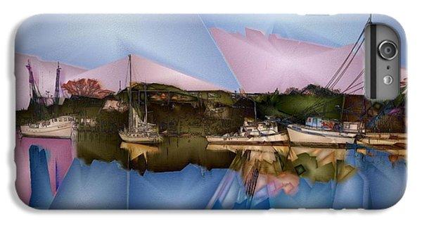 Shrimp Boats iPhone 7 Plus Case - Fishing In Carolina by Jon Glaser