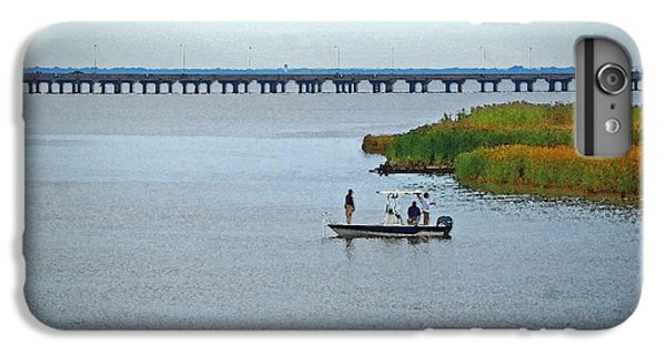 Shrimp Boats iPhone 7 Plus Case - Fishing On The Flats by Michael Thomas
