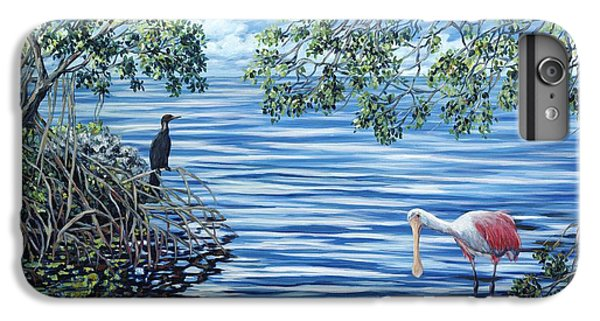 Spoonbill iPhone 7 Plus Case - Fishing The Mangroves by Danielle  Perry
