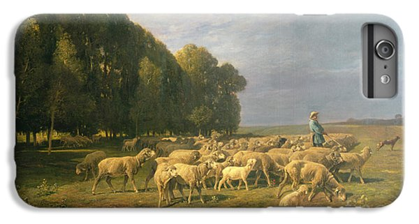 Flock Of Sheep In A Landscape IPhone 7 Plus Case