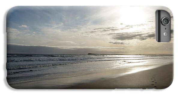IPhone 7 Plus Case featuring the photograph Footprints In The Sand by Linda Lees