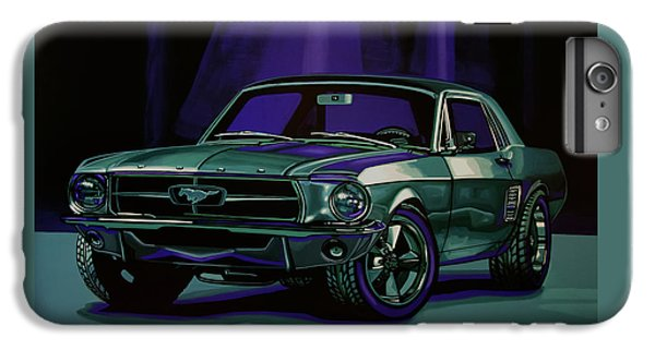Car iPhone 7 Plus Case - Ford Mustang 1967 Painting by Paul Meijering
