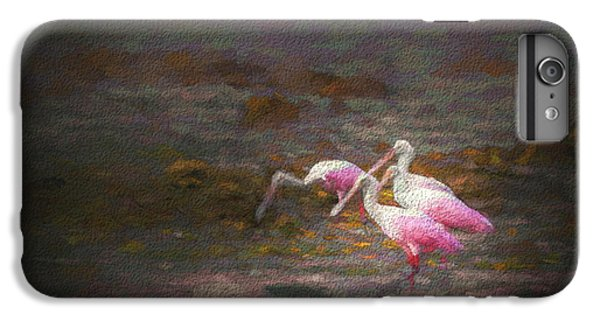 Spoonbill iPhone 7 Plus Case - Four Spoons On The Marsh by Marvin Spates