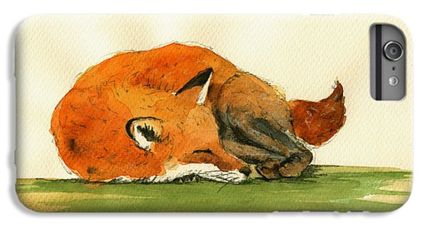 Fox Sleeping Painting IPhone 7 Plus Case by Juan  Bosco
