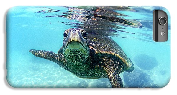 Turtle iPhone 7 Plus Case - friendly Hawaiian sea turtle  by Sean Davey