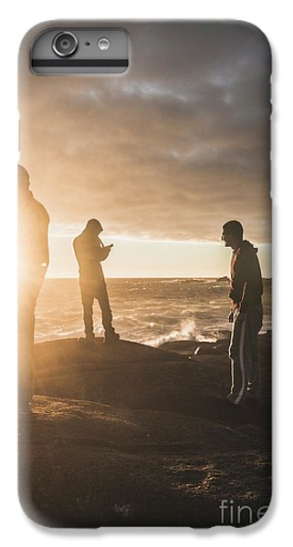 IPhone 7 Plus Case featuring the photograph Friends On Sunset by Jorgo Photography - Wall Art Gallery