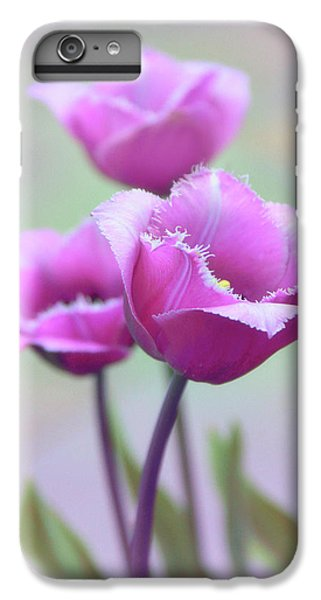 IPhone 7 Plus Case featuring the photograph Fringe Tulips by Jessica Jenney