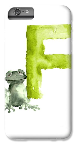 Frog Watercolor Alphabet Painting IPhone 7 Plus Case by Joanna Szmerdt