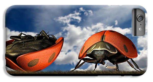 Ladybug iPhone 7 Plus Case - Gangster Ladybugs Nature Gone Mad by Bob Orsillo