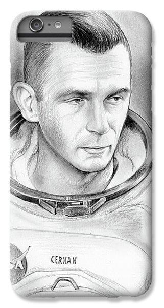 The Moon iPhone 7 Plus Case - Astronaut Gene Cernan by Greg Joens