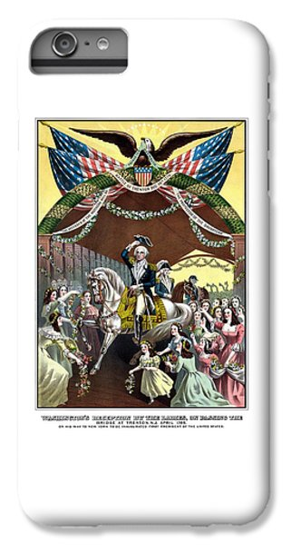 George Washington iPhone 7 Plus Case - General Washington's Reception At Trenton by War Is Hell Store