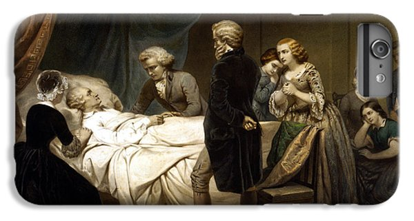 George Washington iPhone 7 Plus Case - George Washington On His Deathbed by War Is Hell Store
