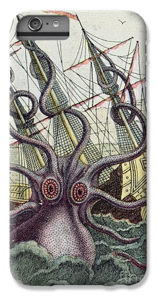 Swallow iPhone 7 Plus Case - Giant Octopus by Denys Montfort