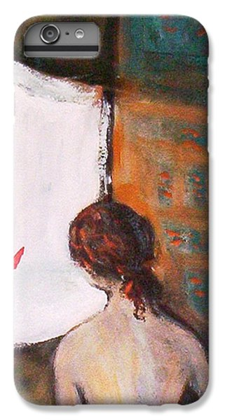 IPhone 7 Plus Case featuring the painting Girl At The Window by Winsome Gunning