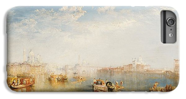 Boat iPhone 7 Plus Case - Giudecca La Donna Della Salute And San Giorgio  by Joseph Mallord William Turner
