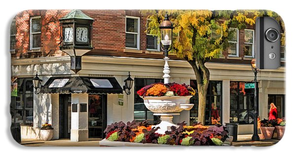IPhone 7 Plus Case featuring the painting Glen Ellyn Watering Fountain by Christopher Arndt