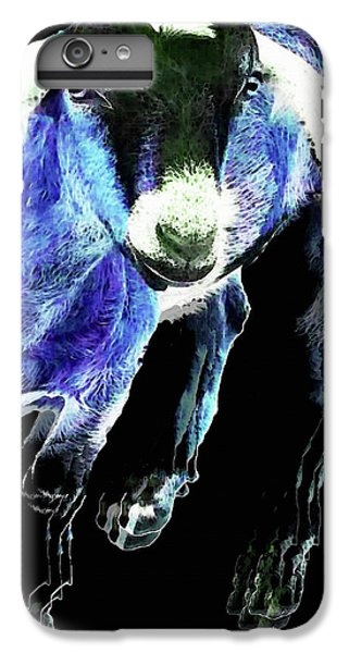 Goat Pop Art - Blue - Sharon Cummings IPhone 7 Plus Case by Sharon Cummings
