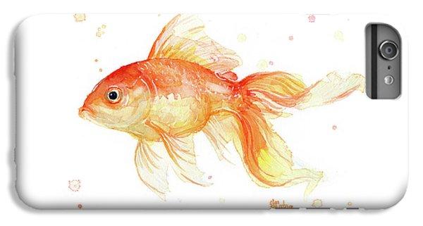 Goldfish Painting Watercolor IPhone 7 Plus Case by Olga Shvartsur