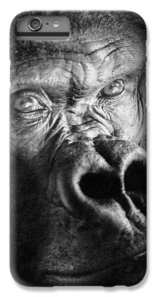 Gorilla On Wood IPhone 7 Plus Case by David Millenheft