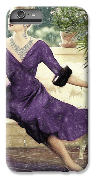Grace Kelly Draw IPhone 7 Plus Case by Quim Abella