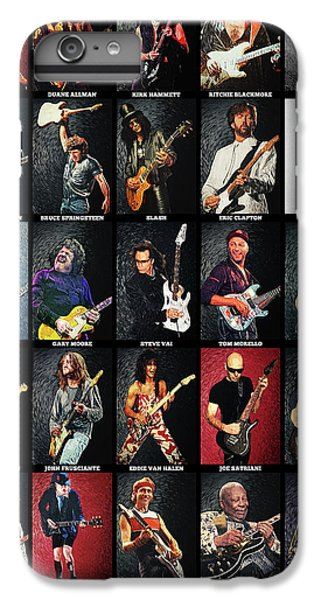 Eric Clapton iPhone 7 Plus Case - Greatest Guitarists Of All Time by Taylan Apukovska