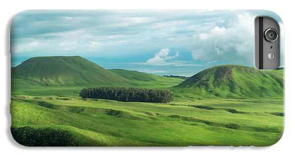 Helicopter iPhone 7 Plus Case - Green Hills On The Big Island Of Hawaii by Larry Marshall
