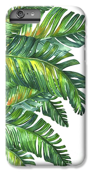 Flowers iPhone 7 Plus Case - Green Tropic  by Mark Ashkenazi