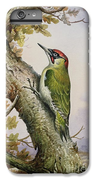 Green Woodpecker IPhone 7 Plus Case by Carl Donner