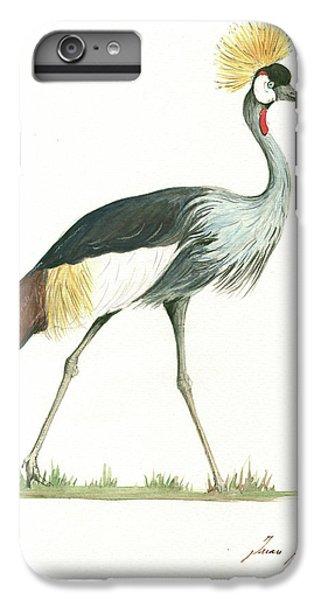 Crane iPhone 7 Plus Case - Grey Crowned Crane by Juan Bosco