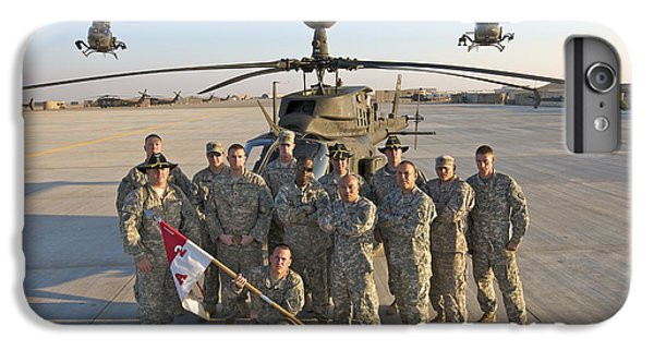 Helicopter iPhone 7 Plus Case - Group Photo Of U.s. Soldiers At Cob by Terry Moore