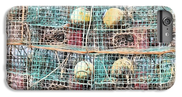 IPhone 7 Plus Case featuring the digital art Gulf Coast Crab Traps by JC Findley