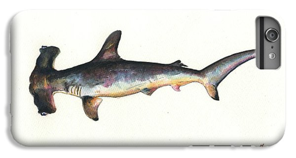 Hammerhead Shark iPhone 7 Plus Case - Hammerhead Shark by Juan Bosco