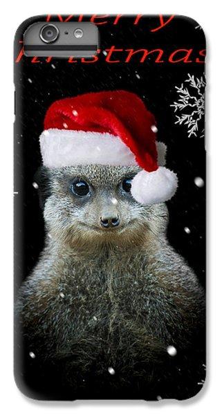 Meerkat iPhone 7 Plus Case - Happy Christmas by Paul Neville