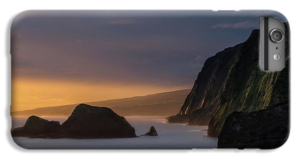 Helicopter iPhone 7 Plus Case - Hawaii Sunrise At The Pololu Valley Lookout by Larry Marshall