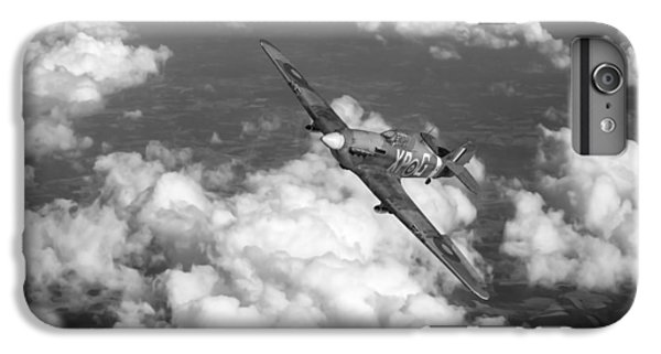 IPhone 7 Plus Case featuring the photograph Hawker Hurricane IIb Of 174 Squadron Bw Version by Gary Eason