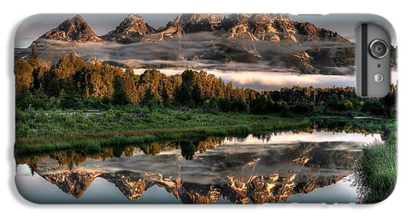 Mountain iPhone 7 Plus Case - Hazy Reflections At Scwabacher Landing by Ryan Smith