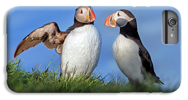 Puffin iPhone 7 Plus Case - He Went That Way by Betsy Knapp