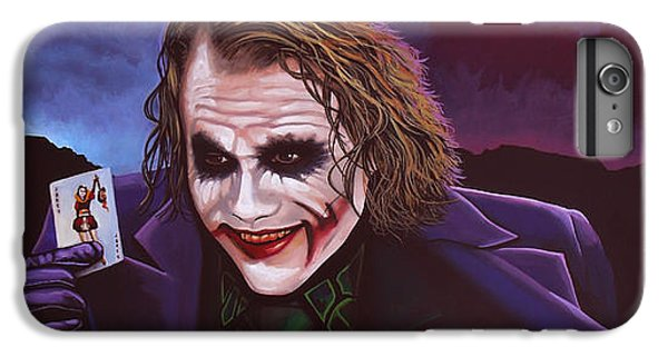 Heath Ledger As The Joker Painting IPhone 7 Plus Case by Paul Meijering