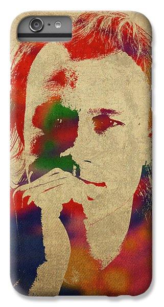Heath Ledger iPhone 7 Plus Case - Heath Ledger Watercolor Portrait by Design Turnpike