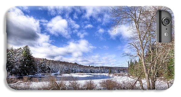 IPhone 7 Plus Case featuring the photograph Heavy Snow At The Green Bridge by David Patterson