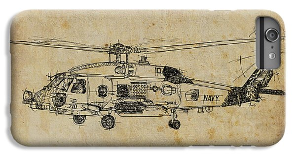 Helicopter iPhone 7 Plus Case - Helicopter 01 by Drawspots Illustrations