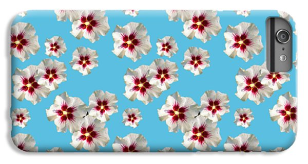 IPhone 7 Plus Case featuring the mixed media Hibiscus Flower Pattern by Christina Rollo
