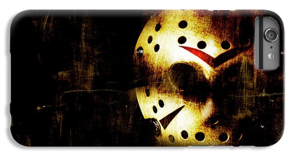 Hockey iPhone 7 Plus Case - Hockey Mask Horror by Jorgo Photography - Wall Art Gallery