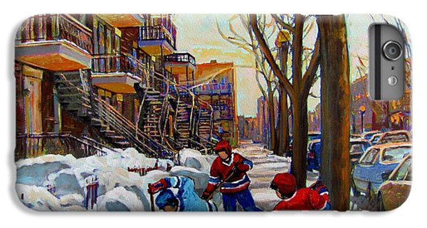 Hockey iPhone 7 Plus Case - Hockey On De Bullion  by Carole Spandau