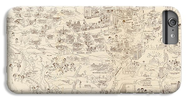 Hollywood Map To The Stars 1937 IPhone 7 Plus Case by Don Boggs