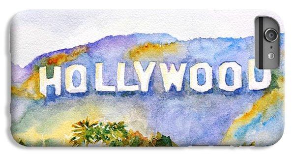 Los Angeles iPhone 7 Plus Case - Hollywood Sign California by Carlin Blahnik CarlinArtWatercolor