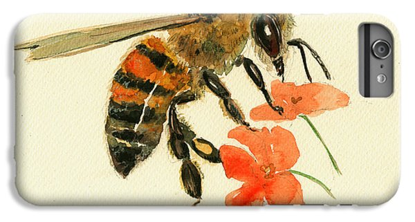 Insects iPhone 7 Plus Case - Honey Bee Watercolor Painting by Juan  Bosco