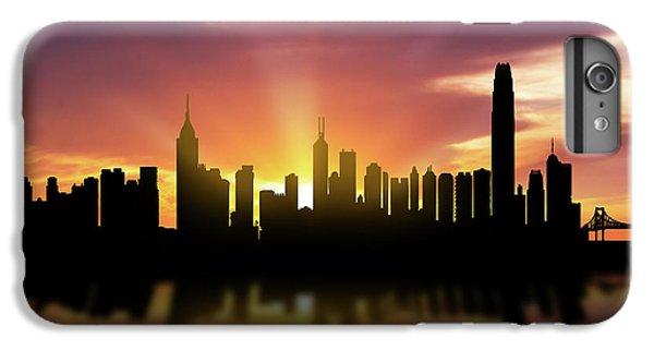 Hong Kong iPhone 7 Plus Case - Hong Kong Skyline Sunset Chhk22 by Aged Pixel