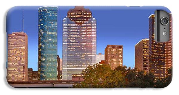 City Sunset iPhone 7 Plus Case - Houston Texas Skyline At Dusk by Jon Holiday