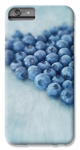 Blueberry iPhone 7 Plus Case - I Love Blueberries by Priska Wettstein